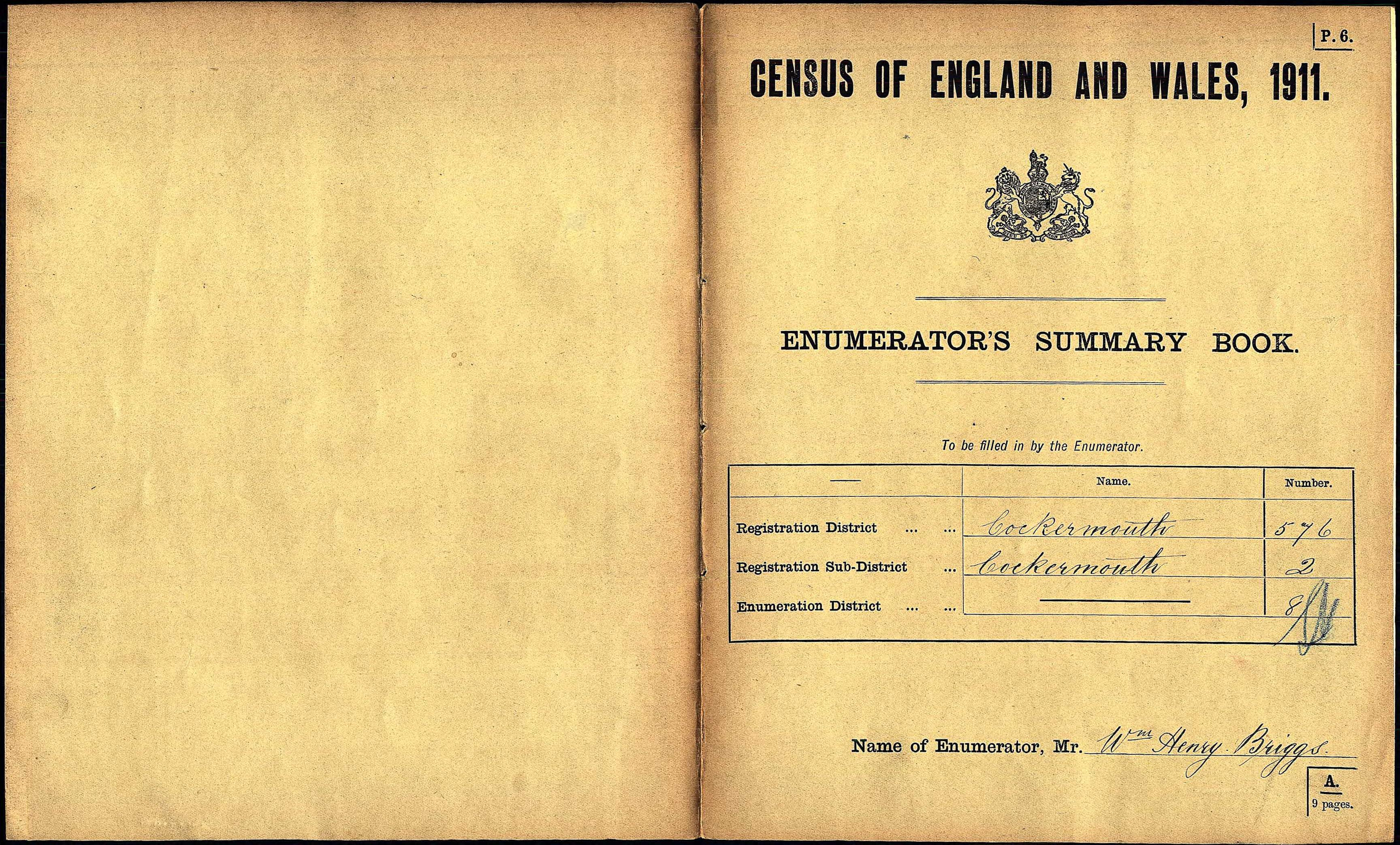 Bridekirk Census 1911